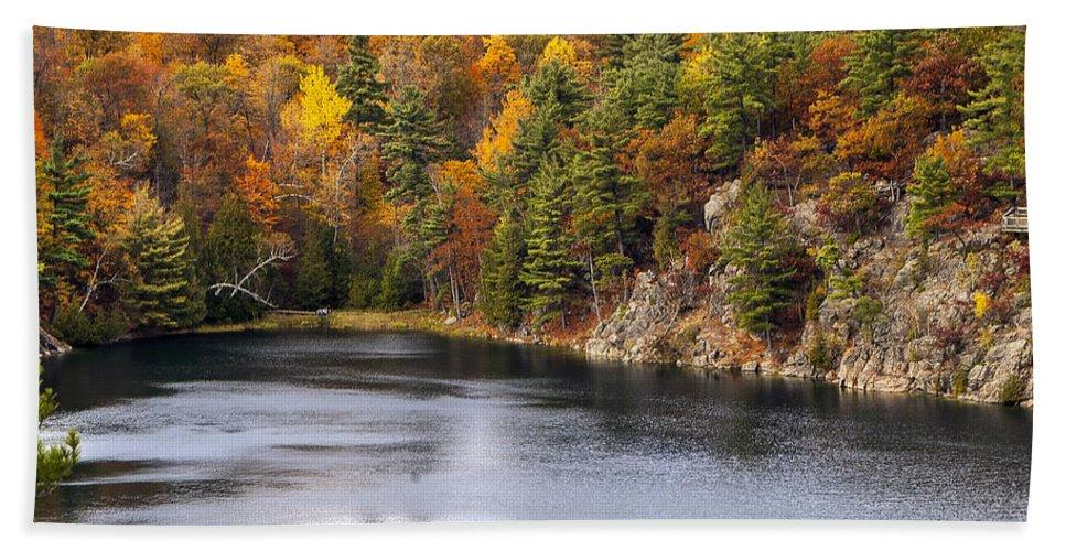 Autumn Hand Towel featuring the photograph Autumn Palette by Joseph Yvon Cote