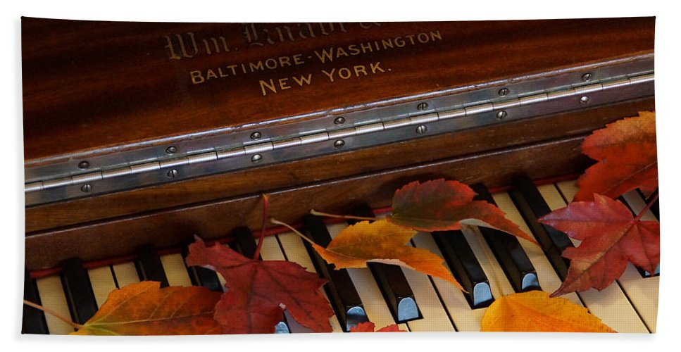 Autumn Hand Towel featuring the photograph Autumn Piano 1 by Mick Anderson