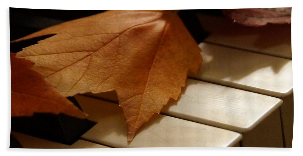 Autumn Hand Towel featuring the photograph Autumn Piano 12 by Mick Anderson