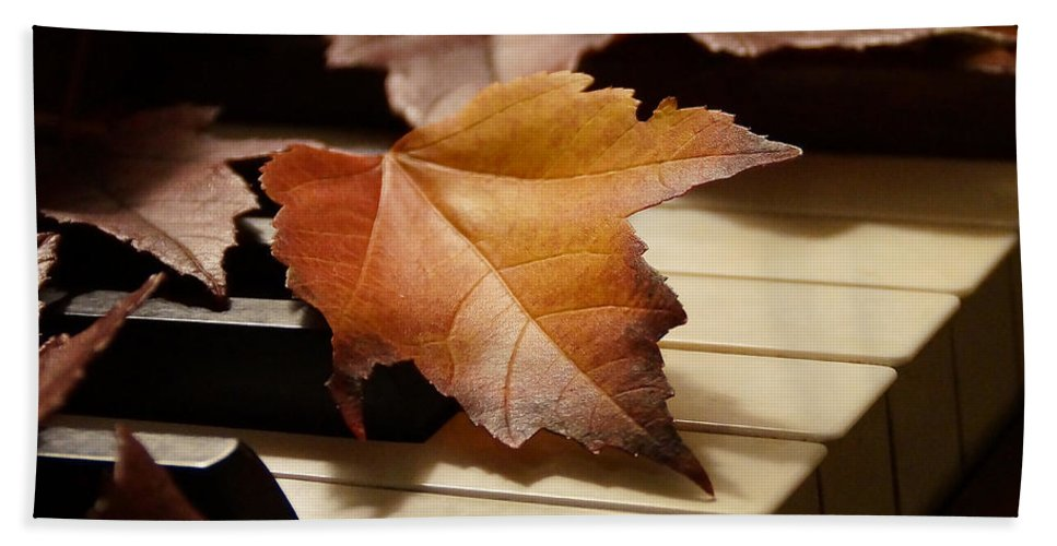 Autumn Hand Towel featuring the photograph Autumn Piano 13 by Mick Anderson