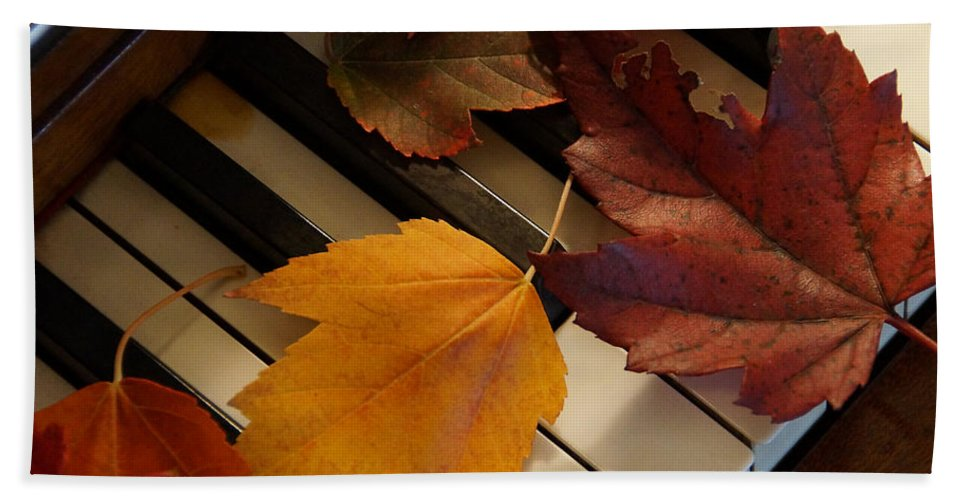 Autumn Hand Towel featuring the photograph Autumn Piano 2 by Mick Anderson
