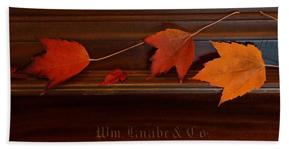 Autumn Hand Towel featuring the photograph Autumn Piano 3 by Mick Anderson