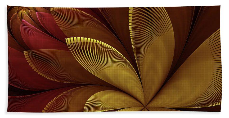 Flower Hand Towel featuring the digital art Autumn Plant by Gabiw Art