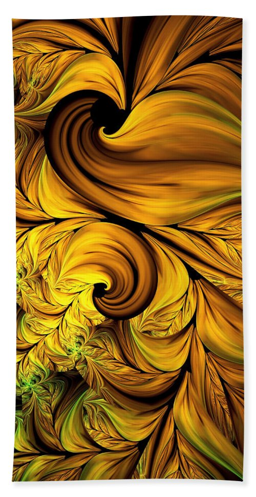 Abstract Bath Sheet featuring the digital art Autumn Returns Abstract by Georgiana Romanovna