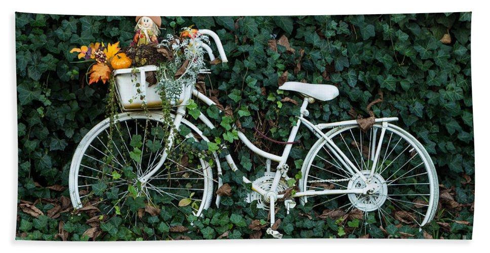 Bike Hand Towel featuring the photograph Autumn Ride by Brigitte Mueller