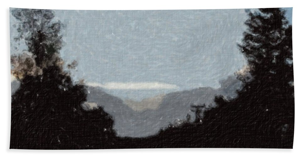 Autumn Hand Towel featuring the painting Autumn Roads by Sergey Bezhinets