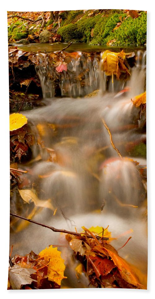 Landscape Hand Towel featuring the photograph Autumn Stream by Brent L Ander