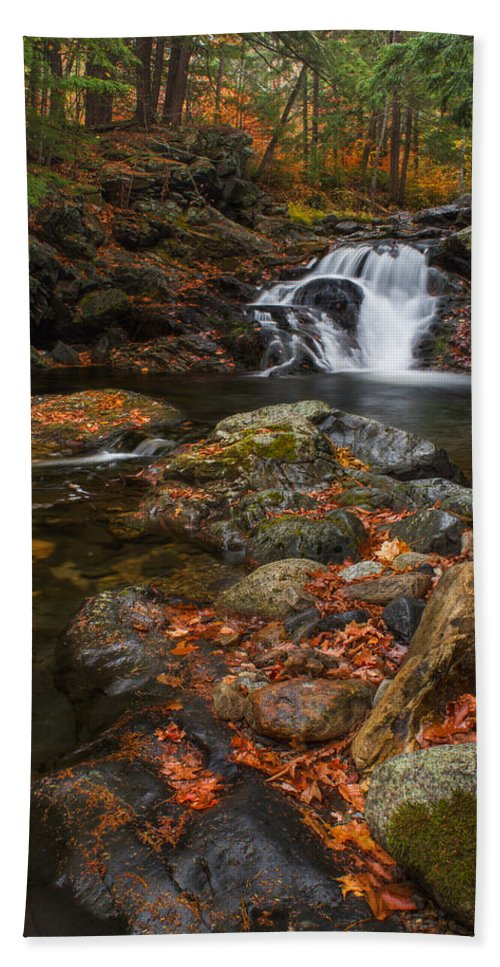 Water Bath Sheet featuring the photograph Autumn Streams In Tamworth by Chris Whiton