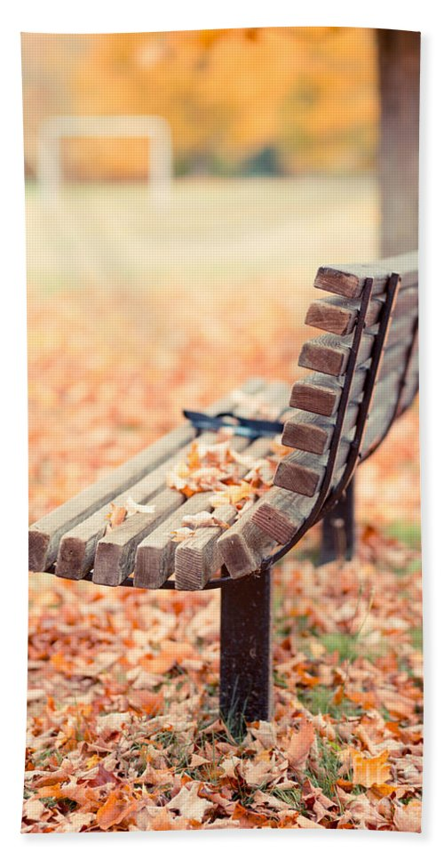 Bench Hand Towel featuring the photograph Autumn The Years Last Loveliest Smile by Edward Fielding