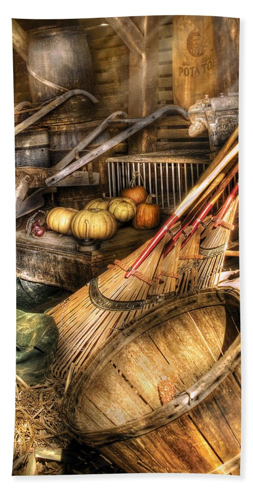 Savad Bath Sheet featuring the photograph Autumn - This Years Harvest by Mike Savad