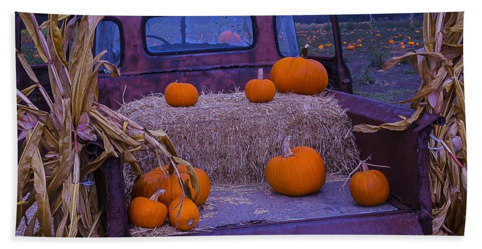 Truck Bath Sheet featuring the photograph Autumn Truck by Garry Gay