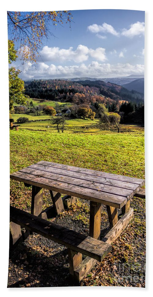 Betws Y Coed Bath Sheet featuring the photograph Autumn View by Adrian Evans
