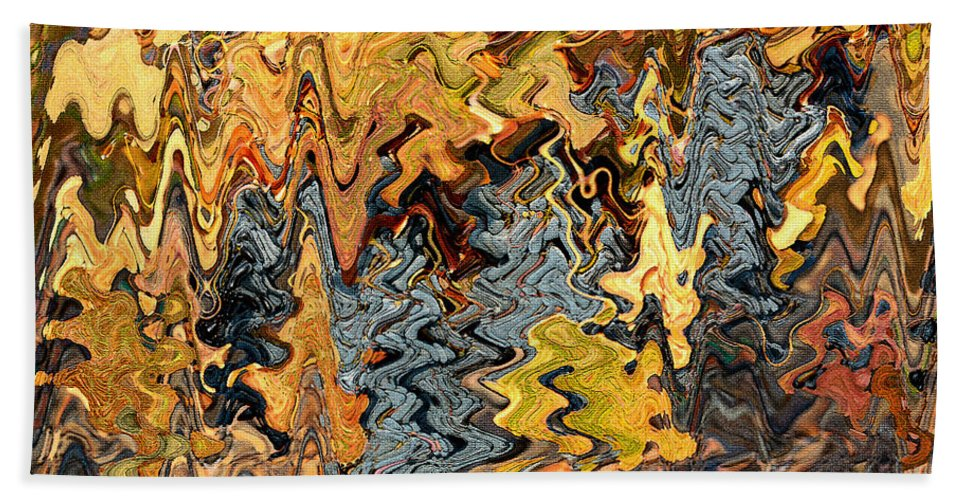 Abstract Hand Towel featuring the photograph Autumn Vineyard Abstract by Carol Groenen