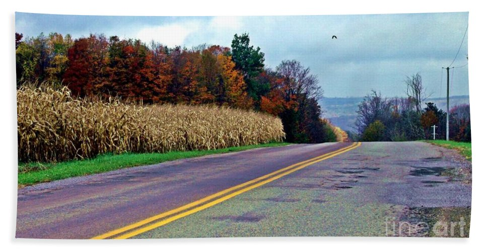 Western Ny Bath Sheet featuring the photograph Autumn Watch by Christian Mattison