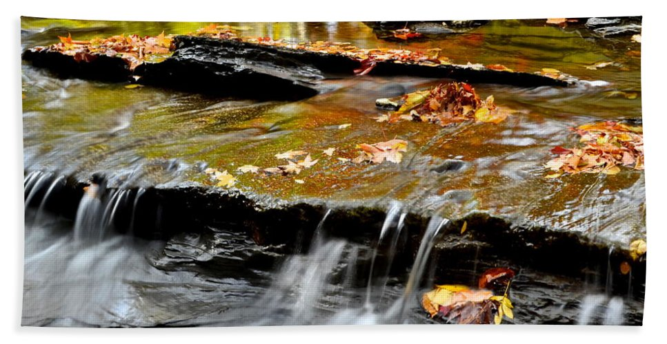 Autumnal Hand Towel featuring the photograph Autumnal Serenity by Frozen in Time Fine Art Photography