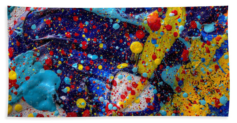 Milky Way Bath Sheet featuring the painting Available Space by Sean Corcoran