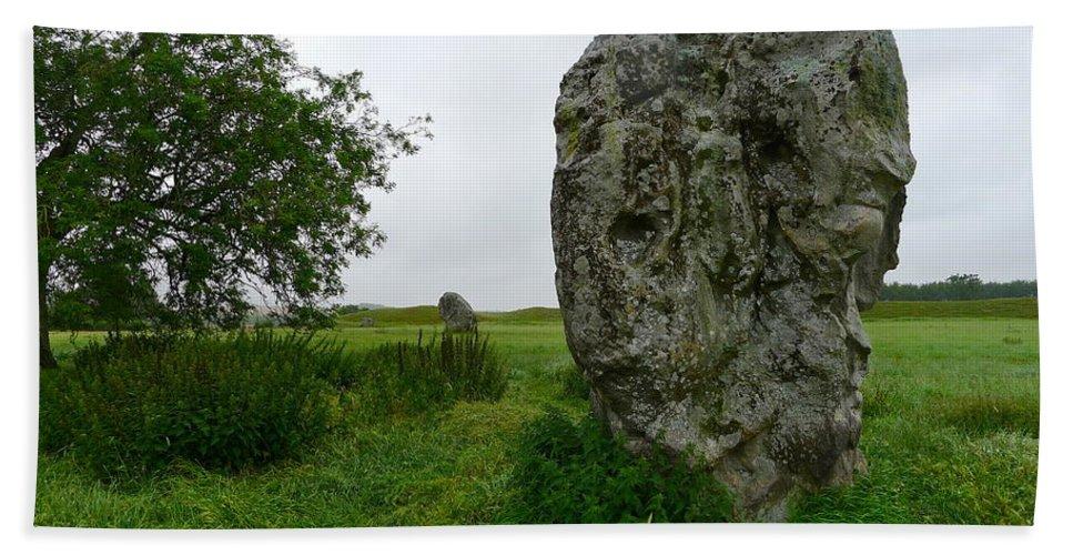 Avebury Bath Sheet featuring the photograph Avebury Megalith by Denise Mazzocco