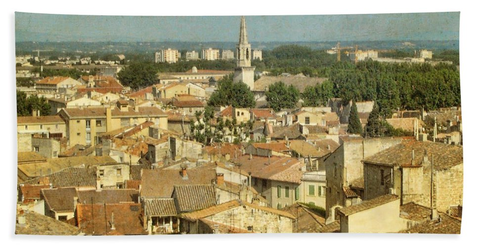 Wright Bath Sheet featuring the photograph Avignon From Les Roches by Paulette B Wright