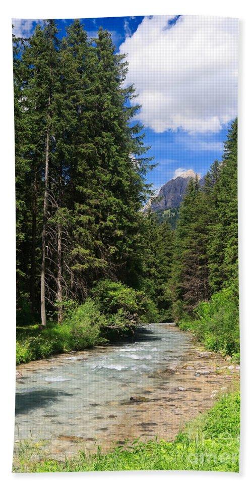 Alpine Hand Towel featuring the photograph Avisio River by Antonio Scarpi