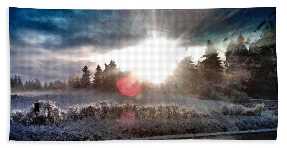 Sunrise Bath Sheet featuring the photograph Awakening by Rory Sagner