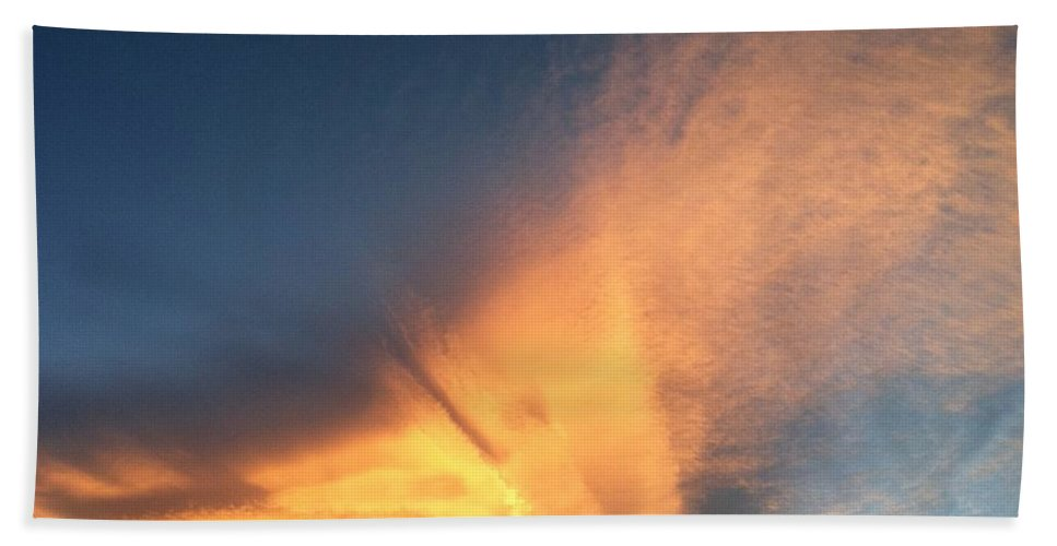 Altocumulus Bath Sheet featuring the photograph Awesome Cloud by Krissy Katsimbras