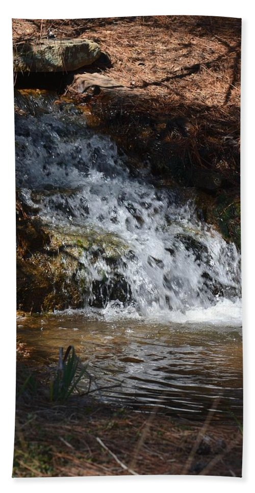 Babbling Brook 2013 Hand Towel featuring the photograph Babbling Brook 2013 by Maria Urso