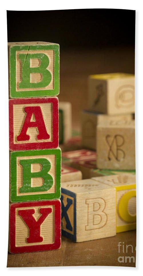 Blocks Bath Towel featuring the photograph Baby Blocks by Edward Fielding