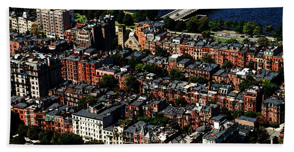 Boston Hand Towel featuring the photograph Back Bay by Charlie and Norma Brock