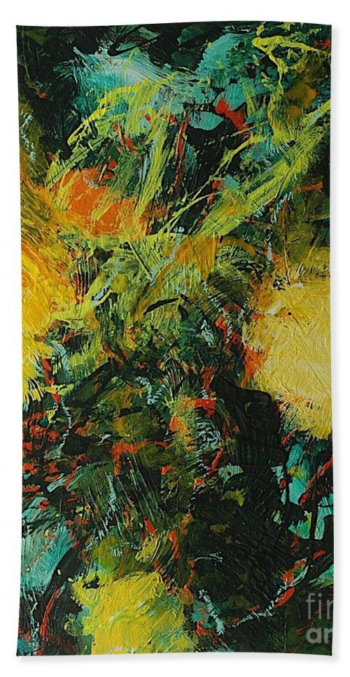Landscape Bath Sheet featuring the painting Back To Eden by Allan P Friedlander