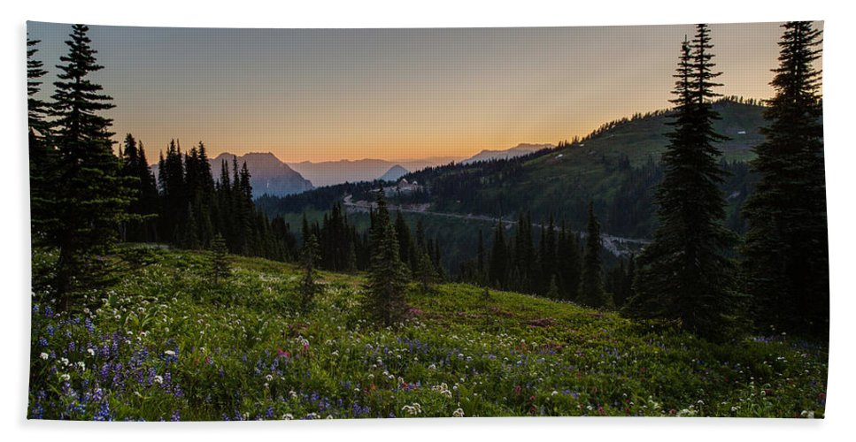 Rainier Hand Towel featuring the photograph Back To Paradise by Mike Reid