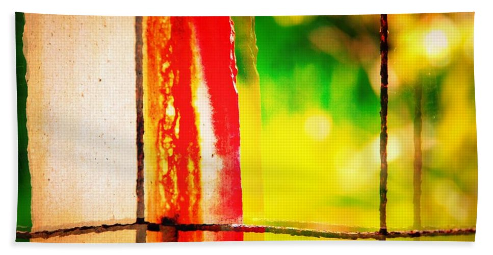 Abstract Bath Sheet featuring the photograph Bacon Thoughts by David Coleman