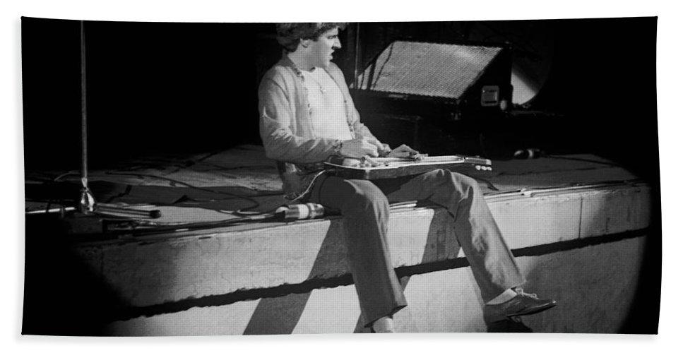 Sammy Hagar Bath Sheet featuring the photograph Bad Motor Scooter Intro In Spokane 2-2-77 by Ben Upham