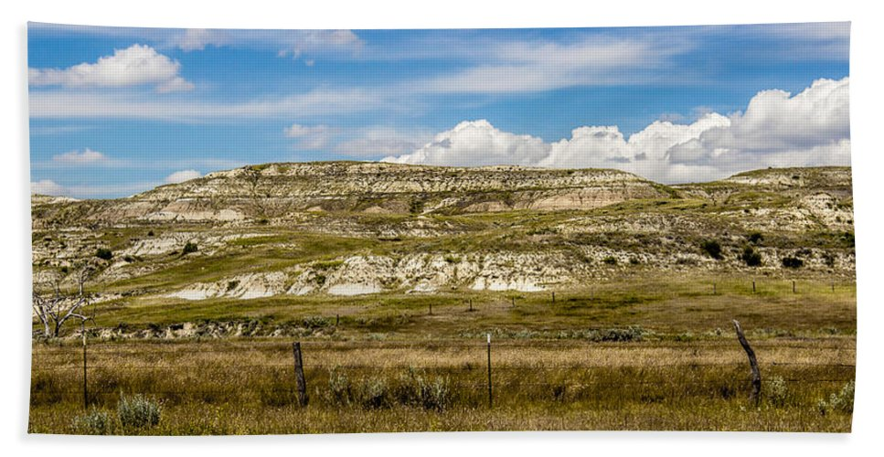 Badlands Hand Towel featuring the photograph Badlands 2 by Chad Rowe