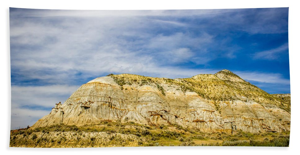 Badlands Hand Towel featuring the photograph Badlands 31 by Chad Rowe