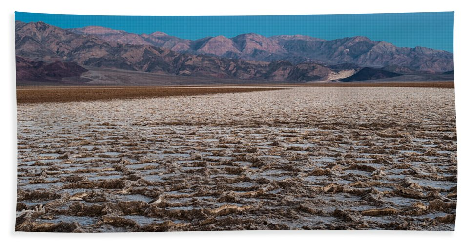 Death Valley Hand Towel featuring the photograph Badwater by George Buxbaum
