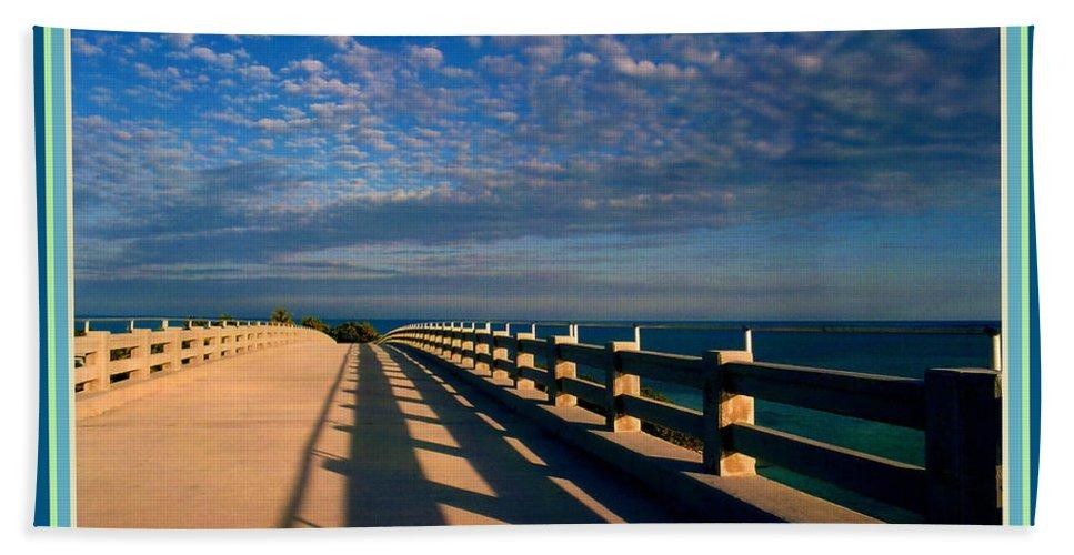 Bahia Honda Hand Towel featuring the photograph Bahia Honda Bridge In The Florida Keys by Susanne Van Hulst