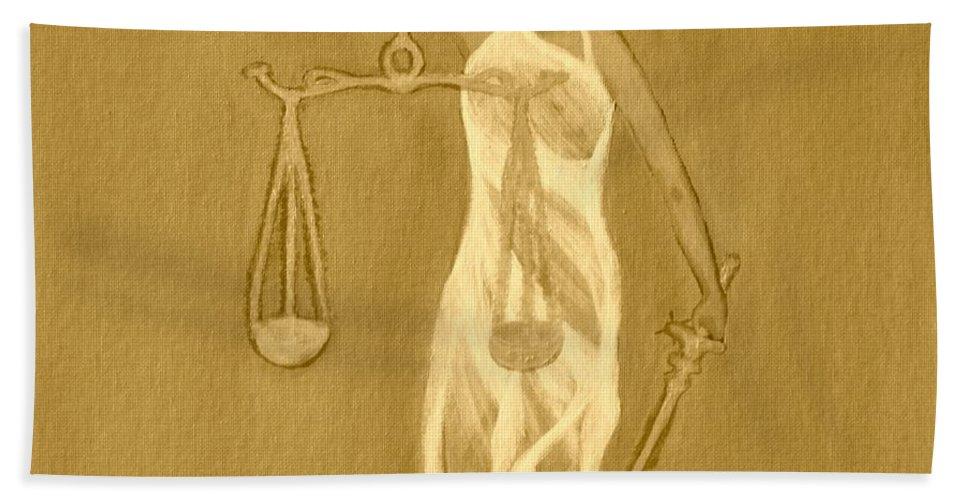 Balance 3 Hand Towel featuring the painting Balance 3 by Lorna Maza