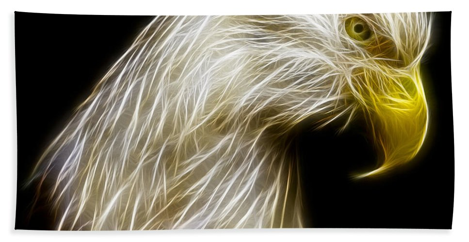 3scape Photos Bath Sheet featuring the photograph Bald Eagle Fractal by Adam Romanowicz