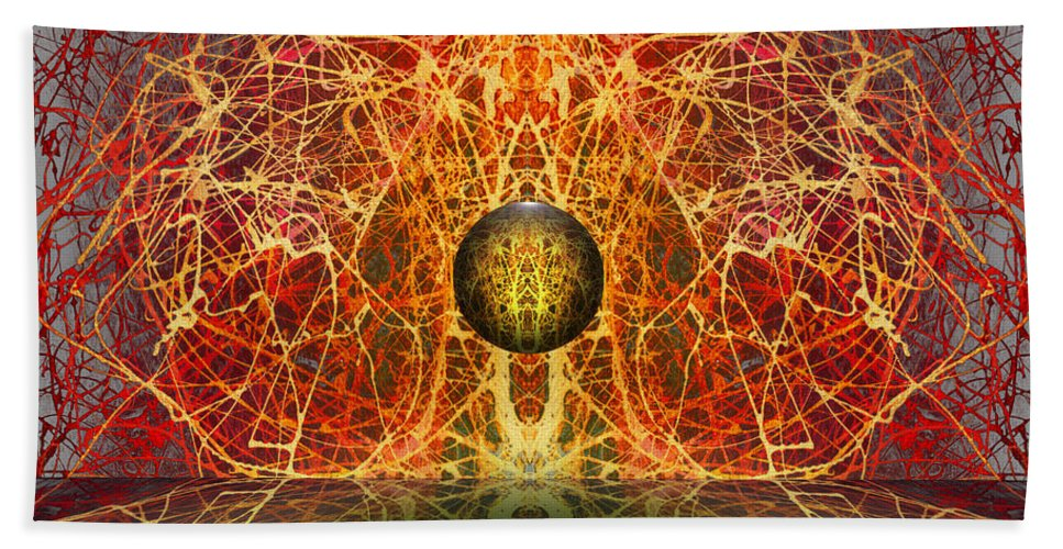 Hand Towel featuring the digital art Ball And Strings by Otto Rapp