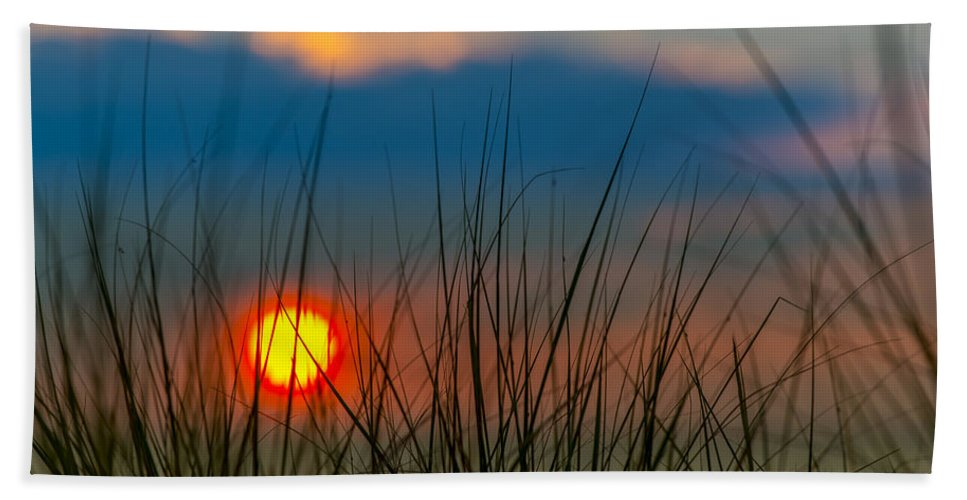 Clouds Hand Towel featuring the photograph Ball Of Fire by Sebastian Musial