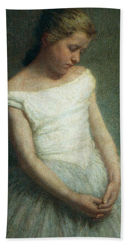 Painting; 19th Century Painting; 20th Century; Europe; Italy; Morbelli Angelo; Dancer (female); Glance; Post-impressionism Bath Sheet featuring the painting Ballerina Female Dancer by Angelo Morbelli