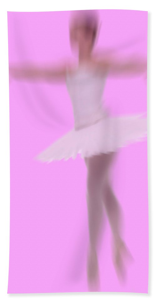Blur Hand Towel featuring the photograph Ballerina In Motion by Bob Pardue