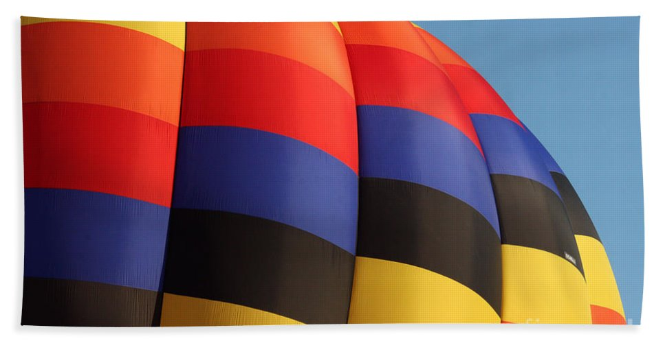 Hot Air Balloon Bath Sheet featuring the photograph Balloon-color-7266 by Gary Gingrich Galleries