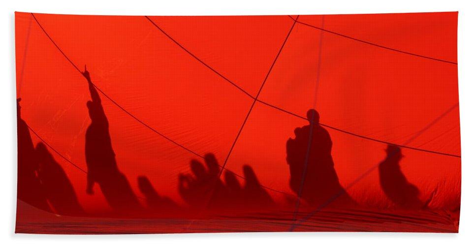 Balloon Shadows Hand Towel featuring the photograph Balloon Shadows by Ernie Echols