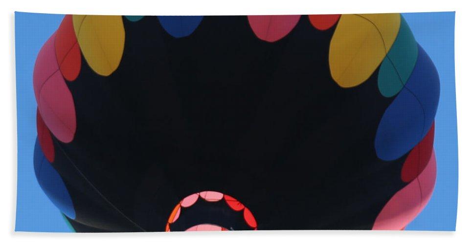 Balloon Bath Sheet featuring the photograph Balloon Square 1 by Carol Groenen