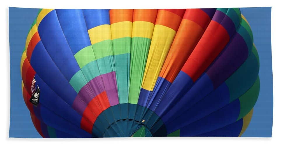Balloon Hand Towel featuring the photograph Balloon Square 2 by Carol Groenen