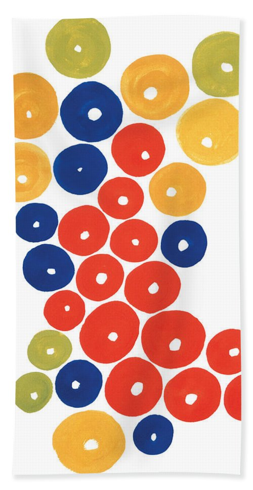 Contemporary Hand Towel featuring the painting Balls by Bjorn Sjogren