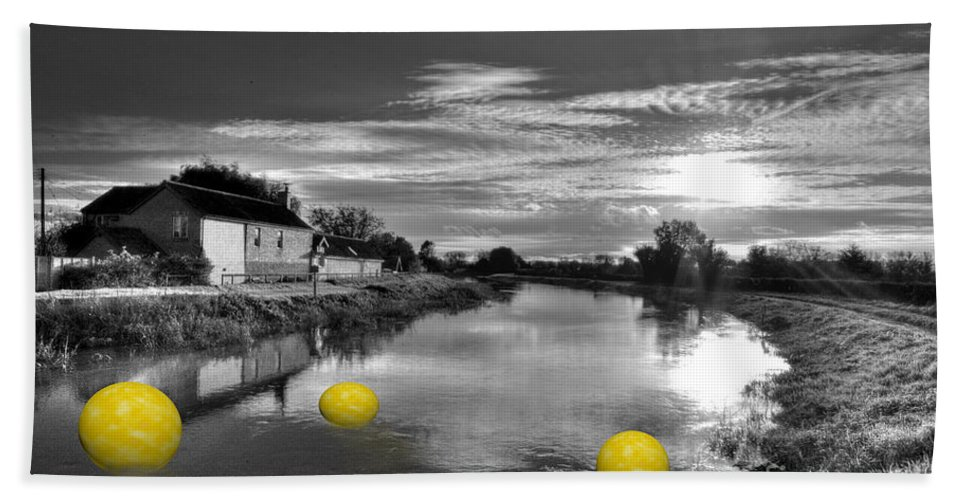 Yellow Hand Towel featuring the photograph Balls Of Athelney by Rob Hawkins