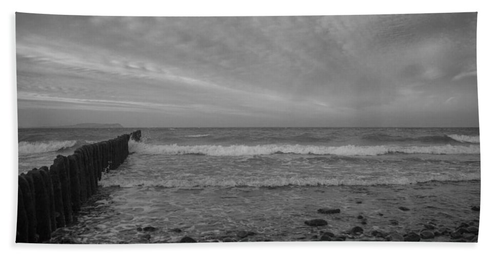 Island Of Ruegen Hand Towel featuring the photograph Baltic Sea And Clouds by Ralf Kaiser