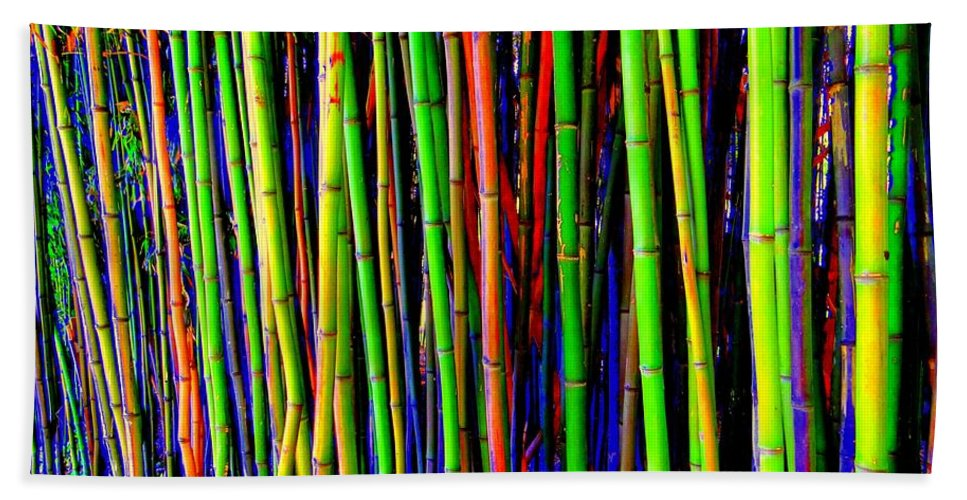 Pop Art Bath Sheet featuring the photograph Bamboo Dream by Ed Weidman